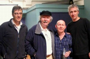 Shane with Tom Paxton, Kieran Goss & Maurice Supple