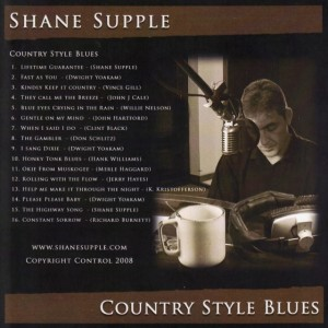 Shane Supple CD 2 Country Style Blues back cover