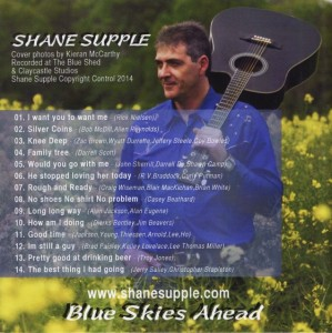 Shane Supple CD 3 Blue Skies Ahead back cover