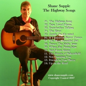 Shane Supple CD 5 The Highway Songs back cover
